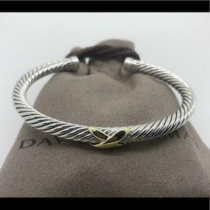 David Yurman 4mm Cable Bracelet 18k Gold X